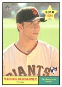 Madison Bumgarner made his mark immediately as a rookie.
