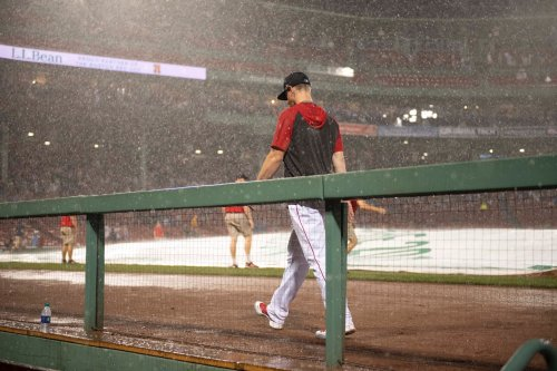 Photo taken by Brock Holt during Wednesday night's rain delay